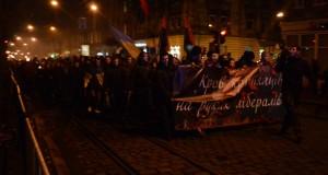 Правосекторівці разом з львів'янами вшанували пам'ять героїв Крут смолоскипною ходою