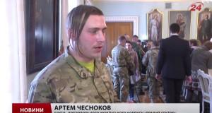 """Філарет нагородив медалями бійців """"Правого сектору"""" та Нацгвардії"""