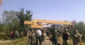 """""""Правий сектор"""" перекрив одну з залізничних гілок, що вела в Крим"""