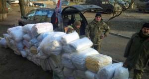 Активісти ГО «Правий сектор-Захід» відвідали з подарунками 5 батальйон ДУК ПС