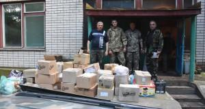Школярі зі Старосамбірщини передали допомогу на УДА