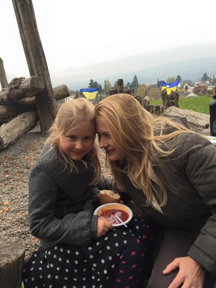 З донькою