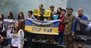 У Львові  вчетверте зібралися на світовий антипутінський протест