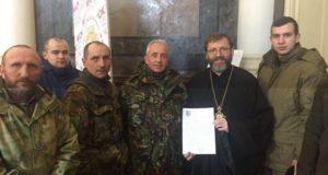 Бійці «Об'єднання добровольців» зустрілися з главою УГКЦ Святославом Шевчуком