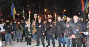 STOP PUTIN STOP WAR  у Чернігові: масова смолоскипна хода, футбольні ультрас і гімн України