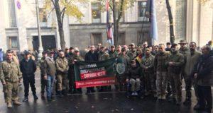 Допоки хлопці захищають нас в окопах, захистимо їх тут! Пікет Верховної Ради України на підтримку законопроекту №7190
