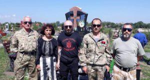 Бійці «Об'єднання добровольців» завітали на освячення пам'ятника нацгвардійцю Руслану Юрчишину