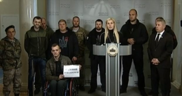 Брифінг ветеранів війни з приводу підтримки мером Львова проросійських сил
