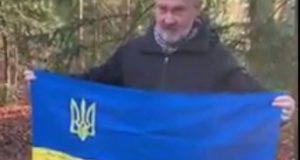 """""""Об'єднання добровольців"""": покладання прапора на могилу Степана Бандери"""