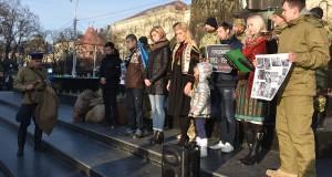 ДІЯ Львівщини вшанувала пам'ять жертв Голодомору театралізованим перфомансом