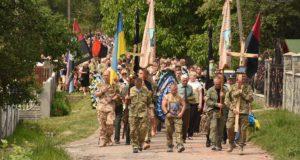 В останню путь. На Львівщині поховали двох бійців УДА що загинули під Авдіївкою